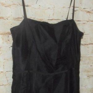 New-169-ANN-TAYLOR-Black-Silk-Beaded-Lace-Dress